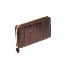 Large Zip Wallet - Chocolate