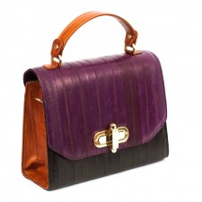 The Liberte Satchel- Black, Tan & Aubergine